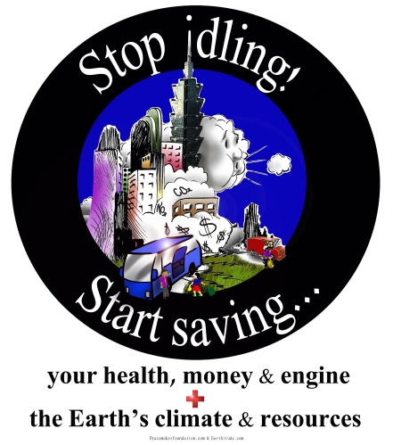 Stop Idling Start Saving Bus + Taipei