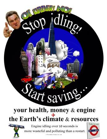Stop Idling Start Saving UK 4 Bus