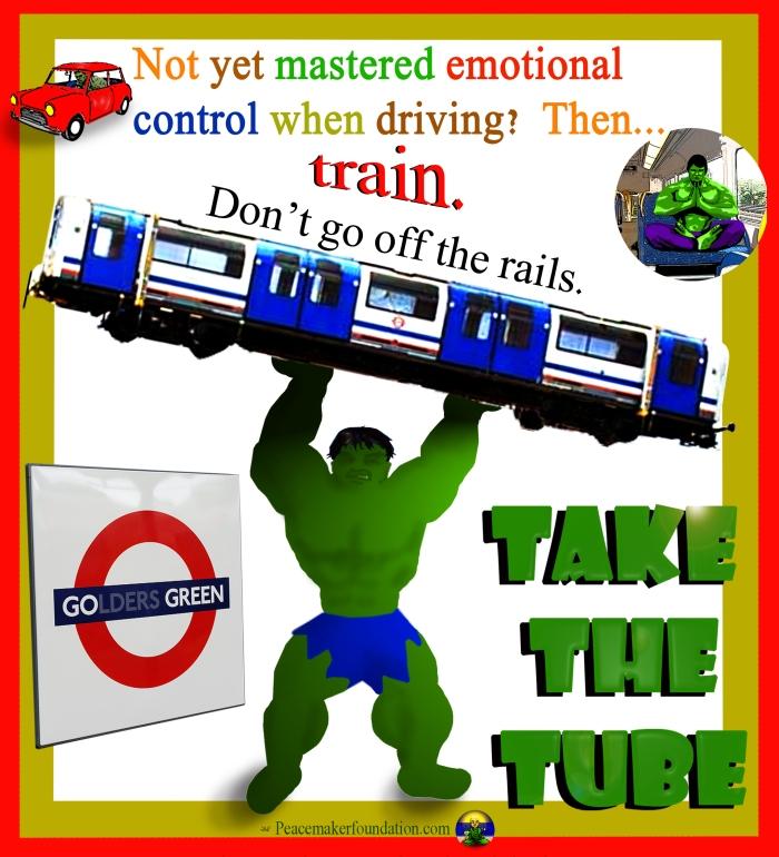 Go Green Take the Tube (For London), train,
