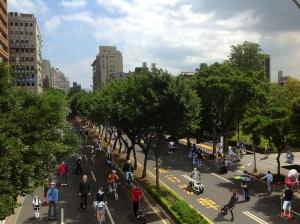 Chongqing South Road as a green lane