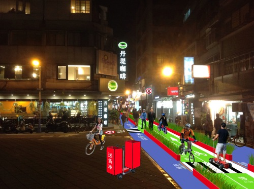 A green lane in Taipei