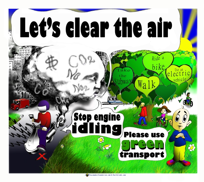 Turn off your engine for cleaner air poster